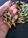 Gold and Green Handfasting Cord