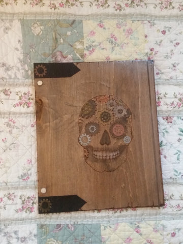 Skull  12 x 11 inch Book of Shadows