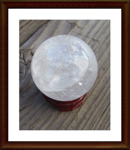 Clear Crystal Orb Sphere