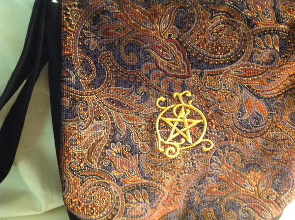 Embroidered Pentacle Messenger Bag
