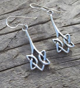 Celtic Filigree 925 Sterling Silver Earrings