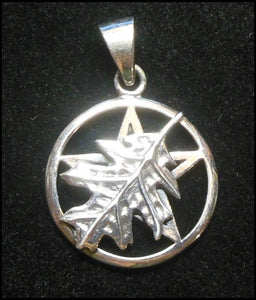 SS Oak Leaf Over Pentacle