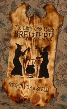 Witches Brew Tavern Sign