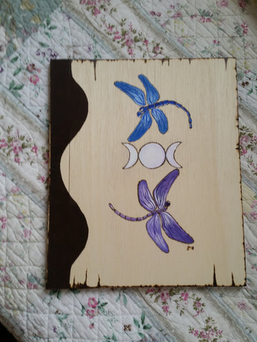 Dragonfly Goddess 12 x 11 inch  Book of Shadows