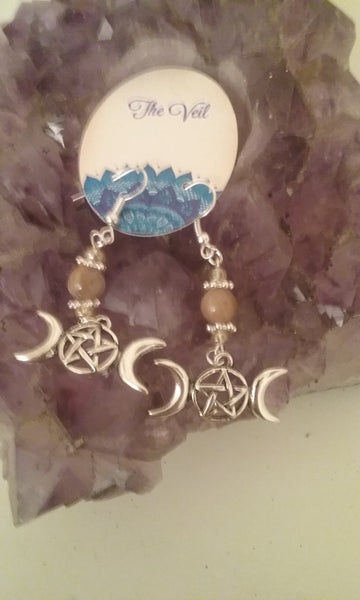 Triple Moon Earrings