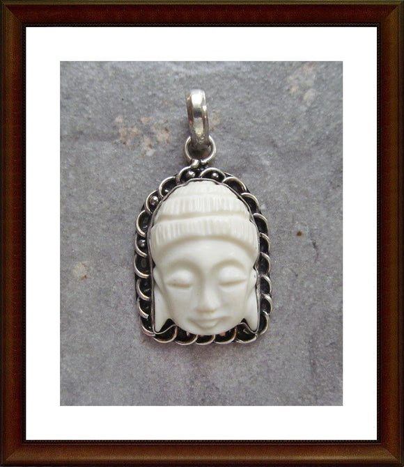Carved Kwan Yin Pendant