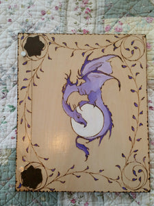 Dragon Moon  12 x 11 inch Expandable Wooden Book Of Shadows
