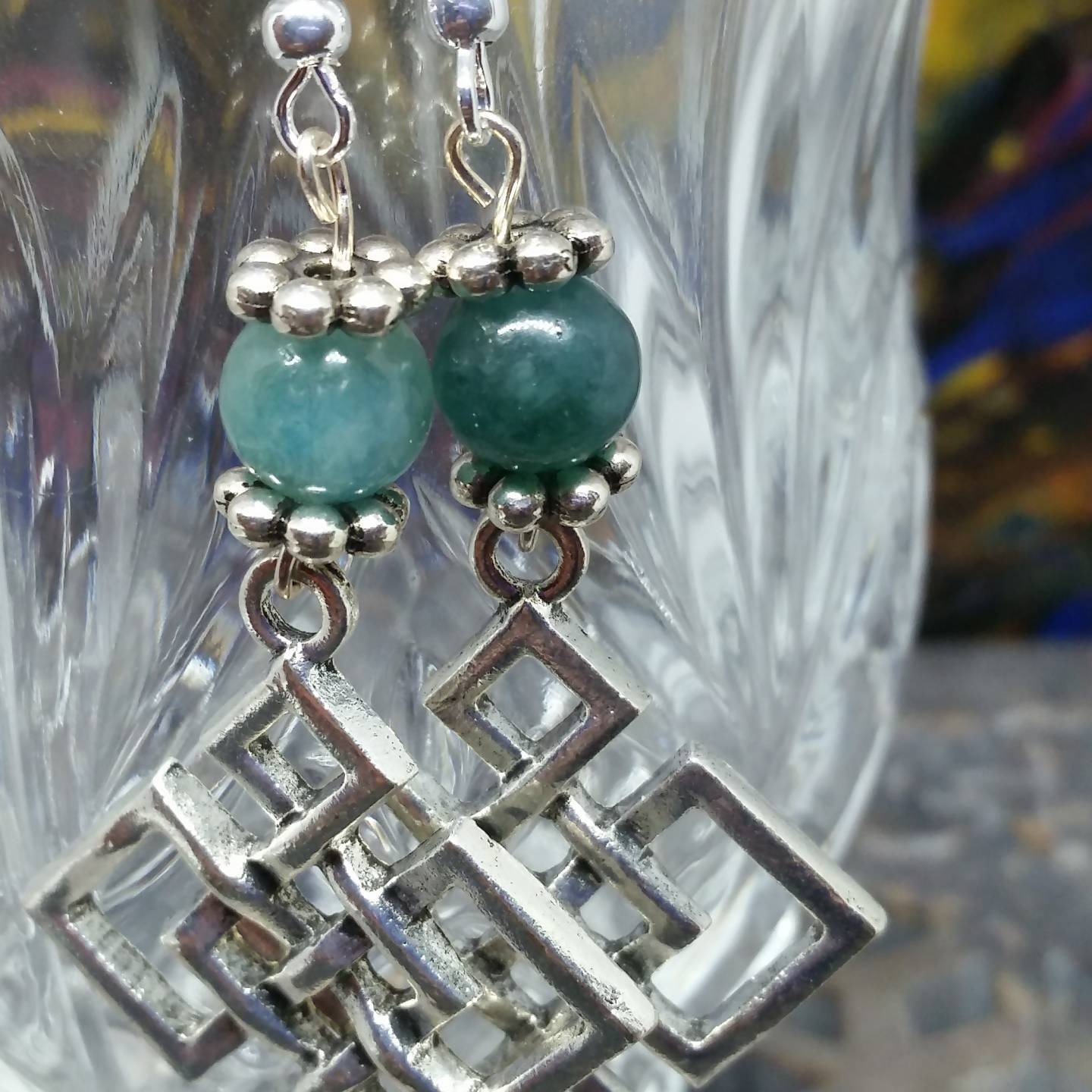 Aventurine Knotwork Earrings