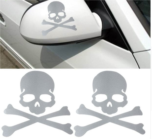 Skull & Crossbones Decal - Silver