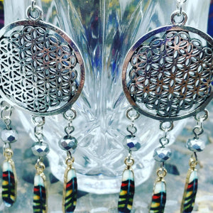 Seed of Life Dreamcatcher Earrings