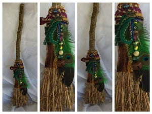 HANDCRAFTED PROSPERITY BESOM FOR ALTER