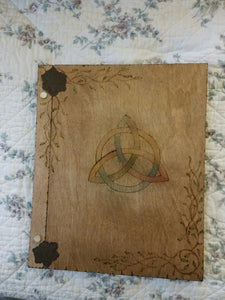 Muted Triquetra 12 x 11 inch Book Of Shadows