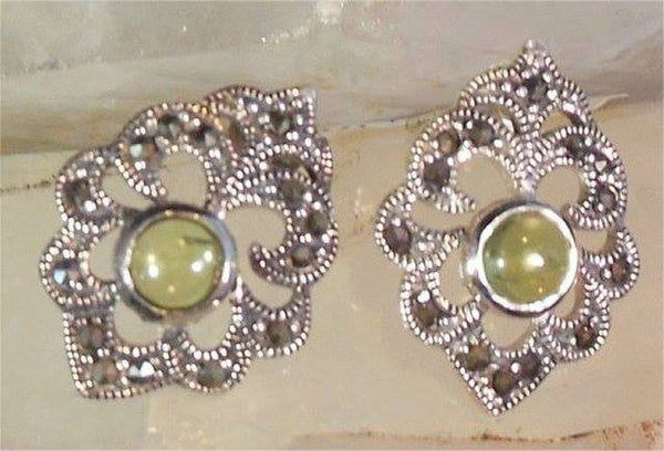 SS Peridot Earrings