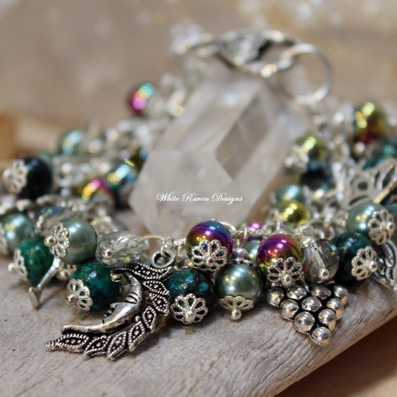 ISIS - Egyptian Mother Goddess Charm Bracelet - Wise woman - Healer - Abundance - Blessings - Pagan Feminine Jewelry - Womens magic