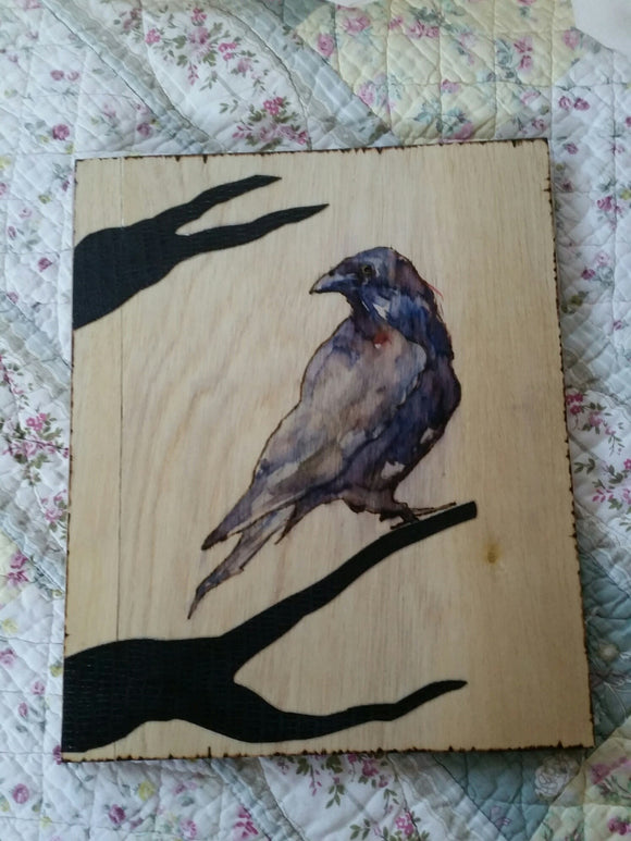 Raven Totem 12 x 11 inch BOOK OF SHADOWS