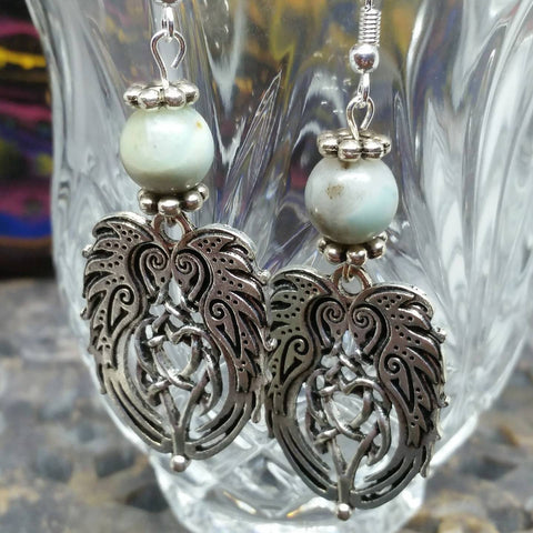 Swan Knot Earrings