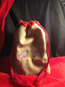 Embroidered Wool Pouch Geri & Freki