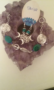 Chrysocola Goddess Shield Bracelet