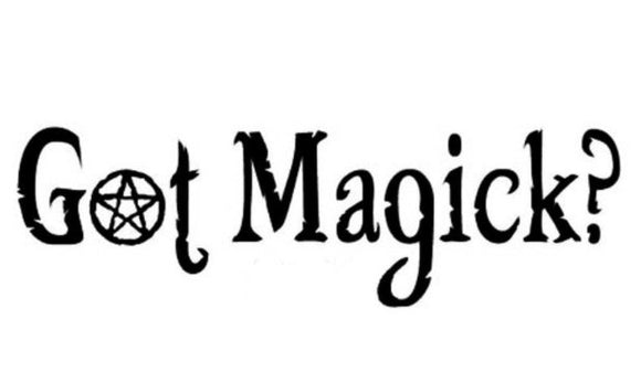 Got Magick? Decal - Black