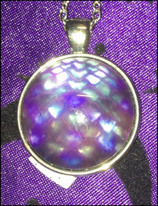 Purple Dragonscale Necklace