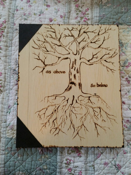 Tree of Life 12 x 11 inch  Book of Shadows