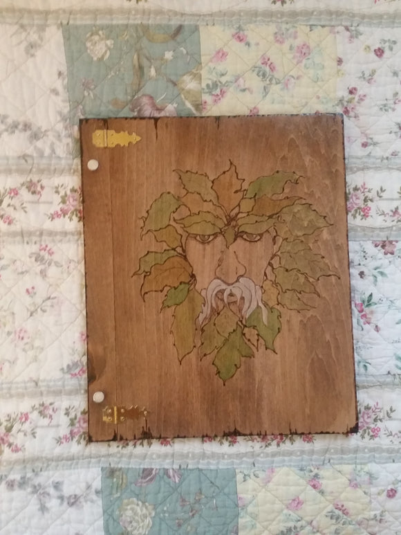 Green Man 12 x 11 inch Book of Shadows