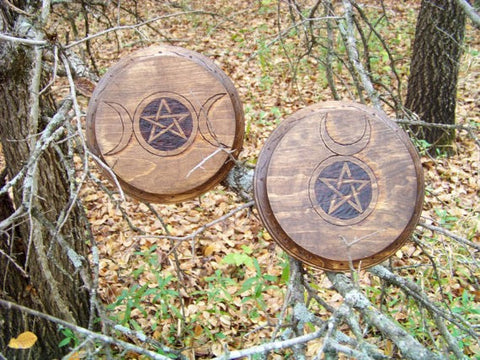 Horned God and Goddess Offering/ Altar Tile