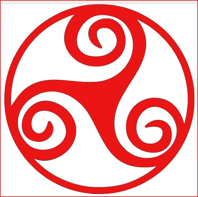 Three Armed Spiral Decal - Red