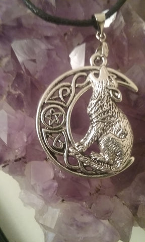 Howling Wolf Pentacle Necklace