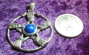 SS Besom Pentacle w/ Lapis Center