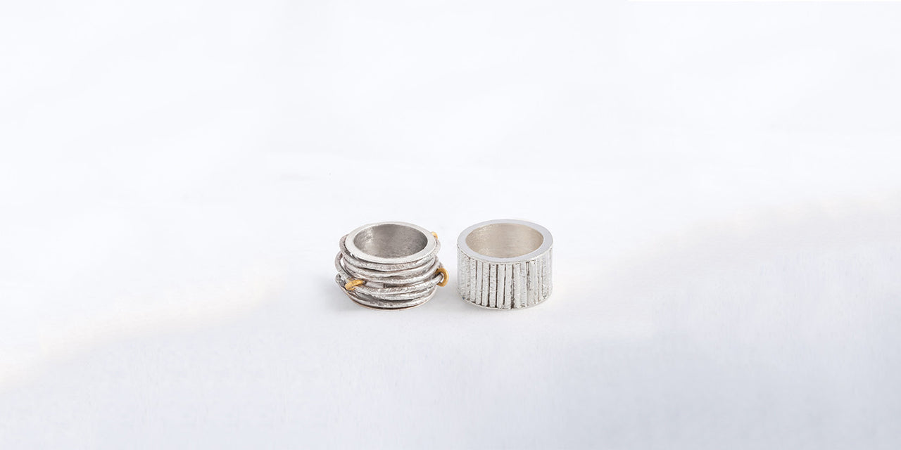 LAMCY 藍秋燕 CONTEMPORARY JEWELRY DESIGNER. VERSATILITY DEFINES US. GOLD AND SILVER COLLECTION. TEXTURE HAMMER RINGS.