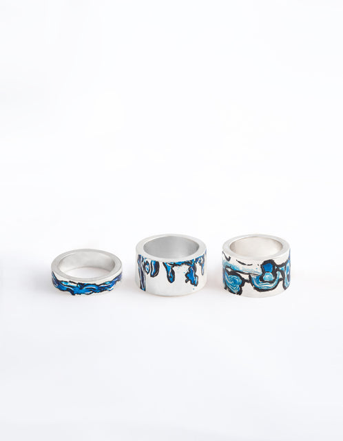 LAMCY 藍秋燕 CONTEMPORARY JEWELRY DESIGNER. VERSATILITY DEFINES US. BLUE COLLECTION. WATERCOLOUR THICK RINGS