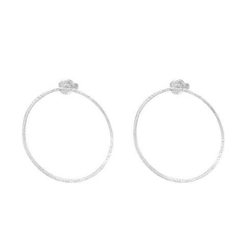 HAMMERED CIRCLE EARRINGS (MEDIUM SIZE)