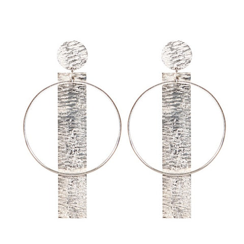 TEXTURE CIRCLE EARRINGS