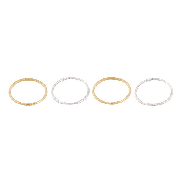 HAMMERED CIRCLE STACK RINGS