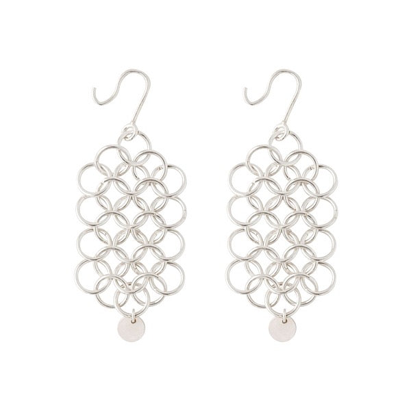 CHAINMAIL DIAMOND EARRINGS