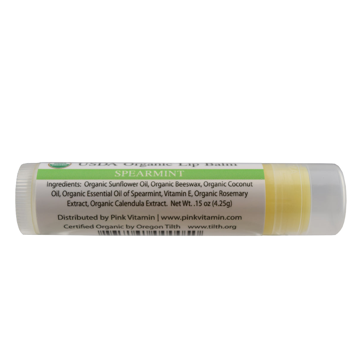 pink vitamin organic lip balm spearmint flavor no more dry lips