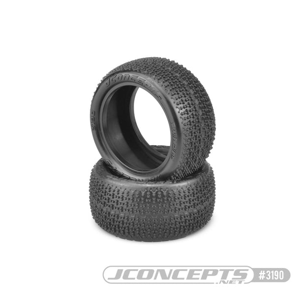 "JConcepts ""Twin Pins"" 1/10th Rear 2.2"" Carpet Tires, Pink Compound"