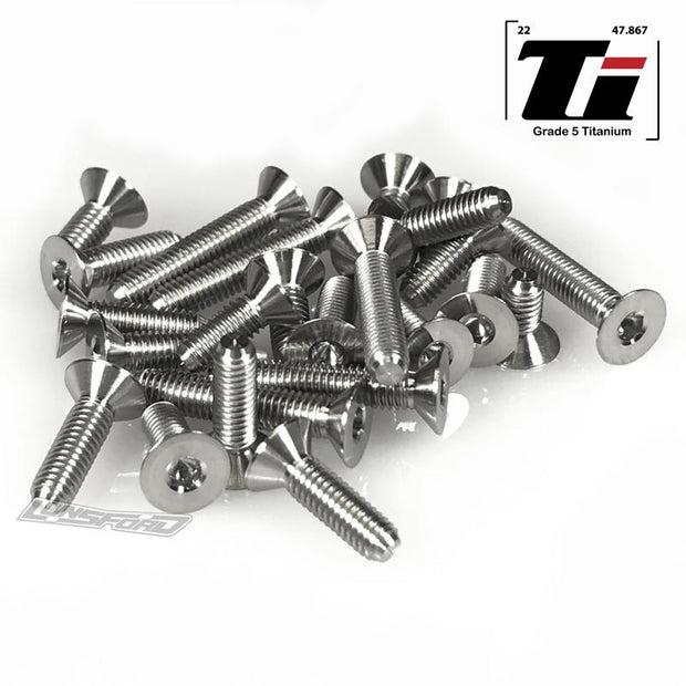 Lunsford Titanium Lower Screw Set Schumacher Cougar Laydown
