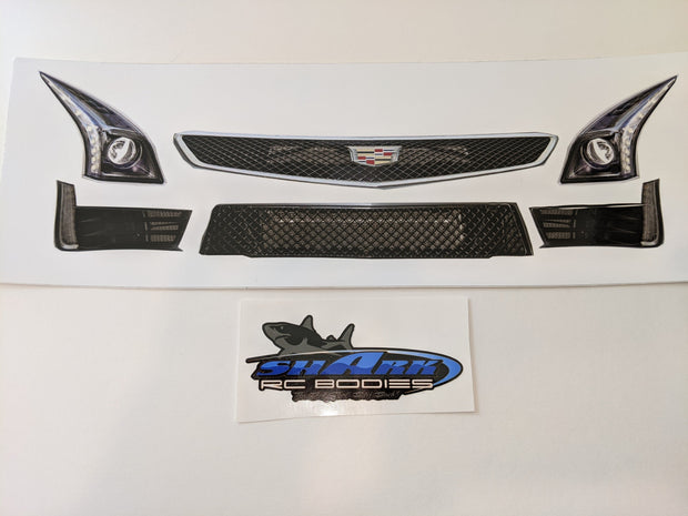 "Shark RC Bodies Front Headlight / Grill Decals ""Killer V"" Body"