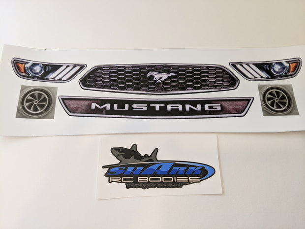 "Shark RC Bodies Front Headlight / Grill Decals ""The Boss"" Body"