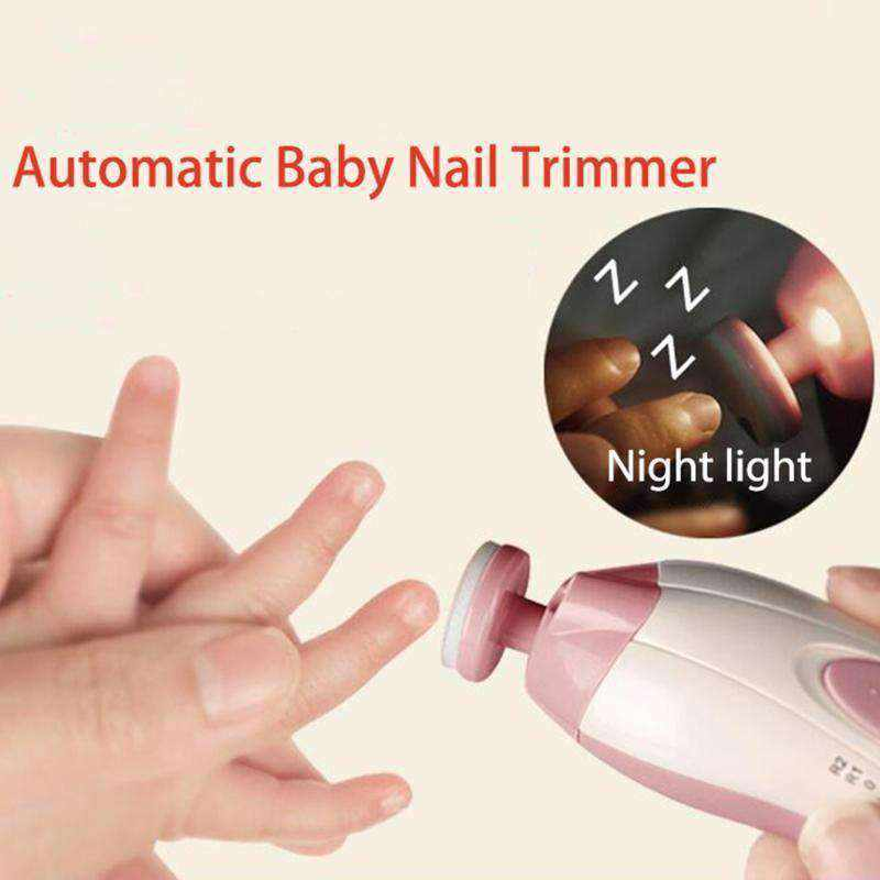 Electric Baby Nail Trimmer with Night Light - Baby Nail Clipper-Gadgets-NEthing Store
