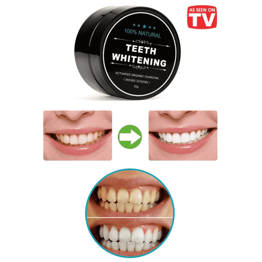 100% Natural Premium Charcoal Teeth Whitening Powder - Charcoal Toothpaste-Home Care-NEthing Store