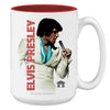 Elvis Presley White Suit Coffee Mug