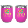 Elvis Aloha From Hawaii Stainless Wine Tumbler Pink