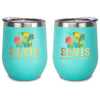 Elvis Aloha From Hawaii Stainless Wine Tumbler Teal