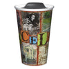 Graceland Elvis Rustic Ceramic Travel Tumbler