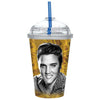 Elvis 85 Graceland Straw Travel Tumbler