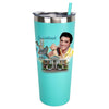 Elvis Graceland Guitar Watercolor Stainless Travel Tumbler