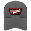Graceland Grey Buffalo Plaid Cap